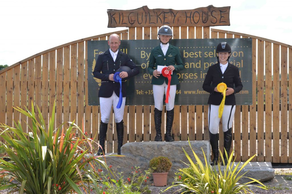 Horsezone.co.uk CIC1* Top 3 - (L-R): 2nd: Neil Morrison (Black Ice), 1st: Jennifer Kuehnle (Scattery Katie), 3rd: Felicity Ward (Ballinahinch Jack)